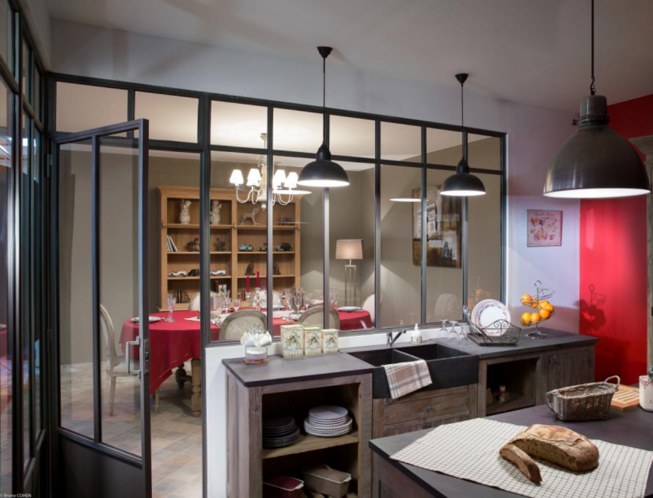 Decoration De Loft Design Et Cloison En Verre Design Moderne ...