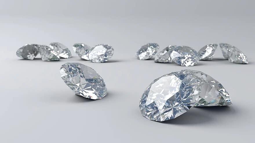 Toutes les formes et tailles de diamant